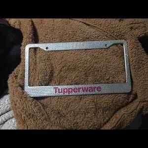 TUPPERWARE Bling License plate frame